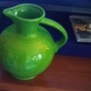 """Vintage """"Fiestaware"""" Pithcher Shamrock Color"""